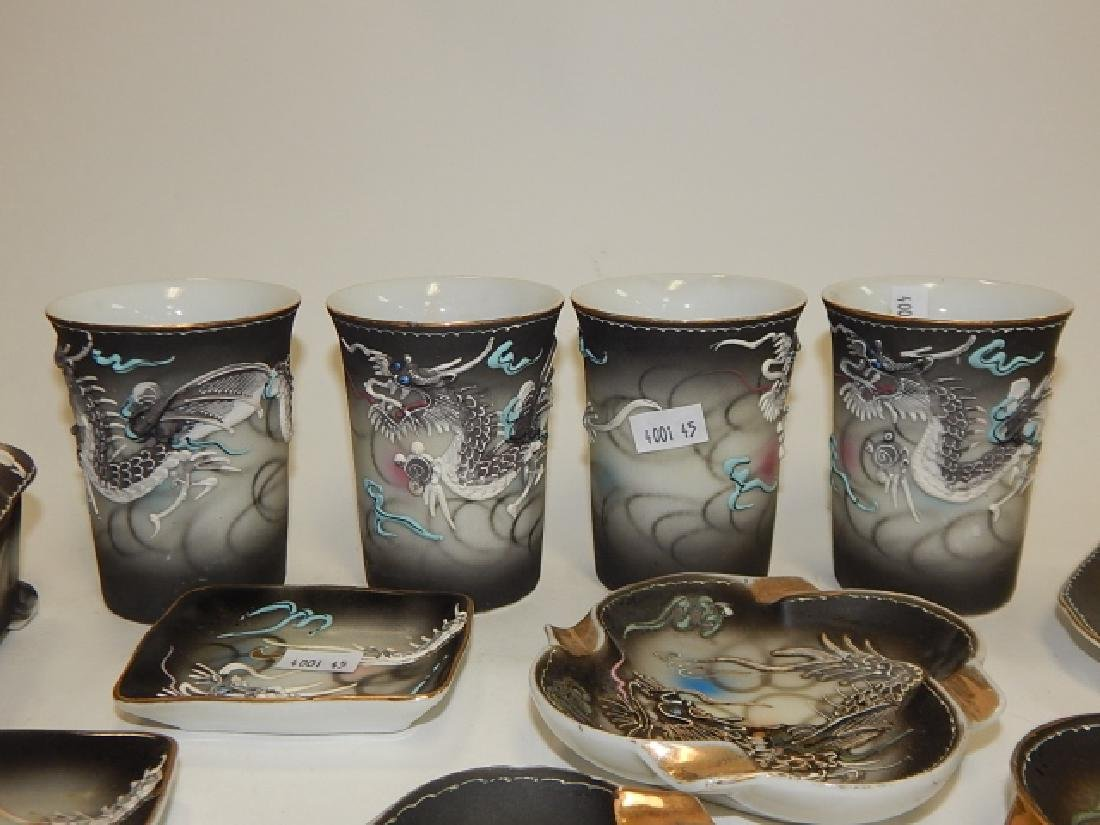 ASSORTMENT OF DRAGONWARE CUPS, BOXES, ASH TRAYS - 4