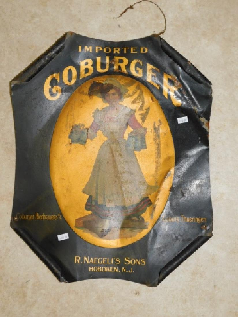 GOBURGER TIN BEER SIGN