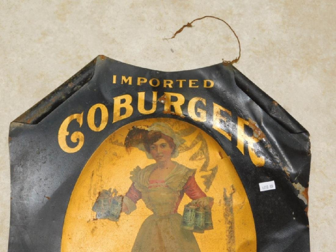 GOBURGER TIN BEER SIGN - 2