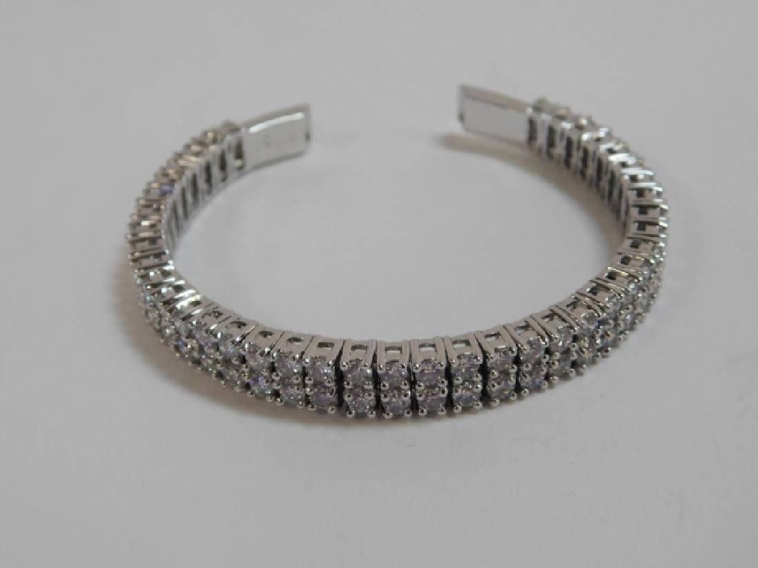 THREE STERLING SILVER BRACELETS. - 3