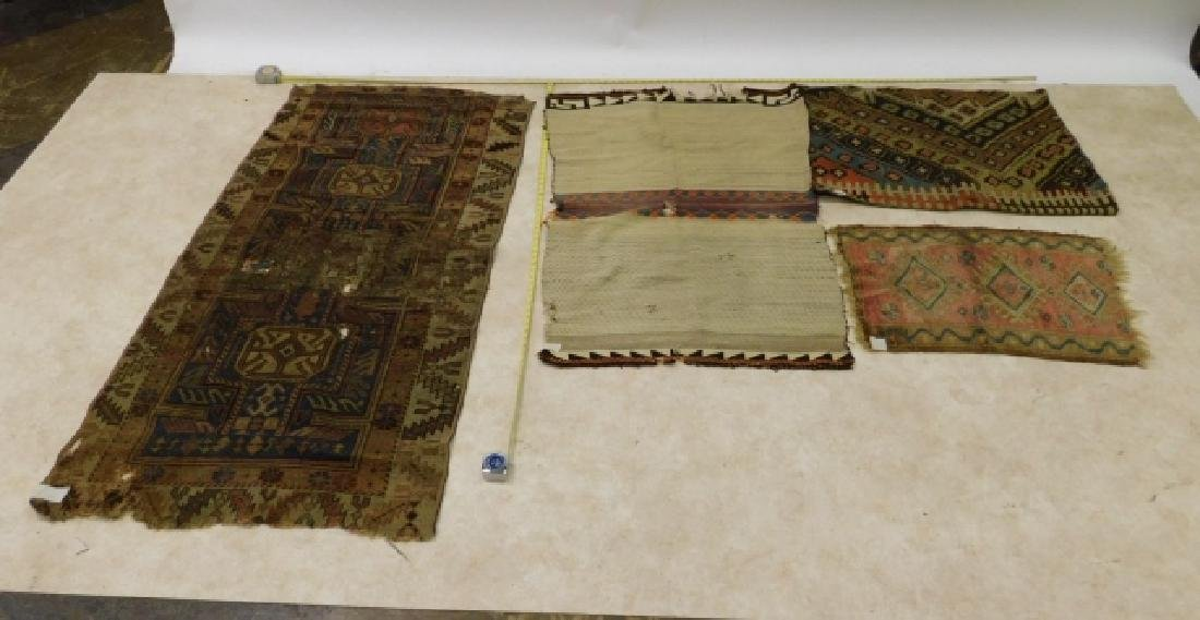 HAND TIED RUGS AND CARPET BAG