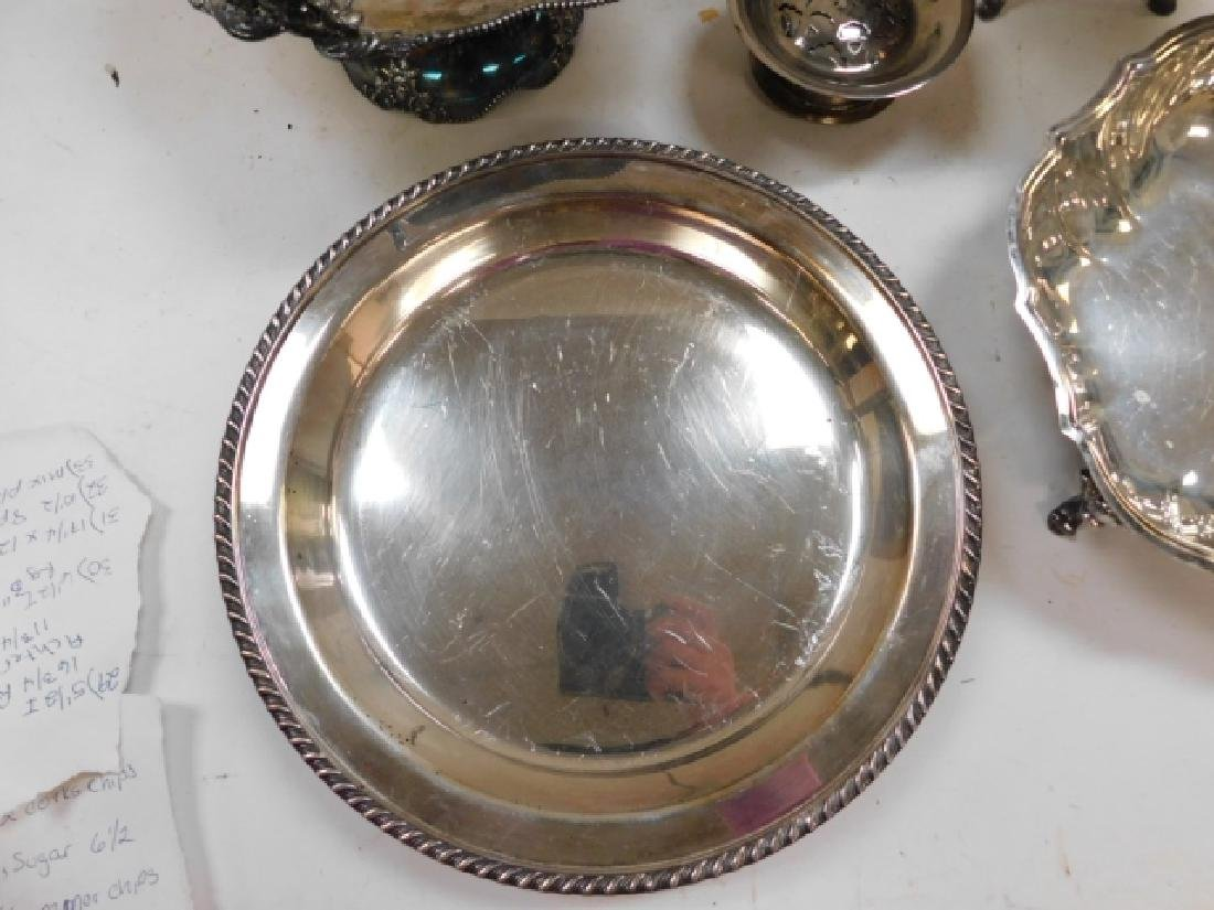 LARGE LOT OF SILVER PLATE SERVING PIECES - 3