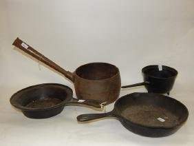LOT OF FOUR COOKING PANS