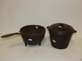 CAST IRON COOK POT AND SAUCEPAN
