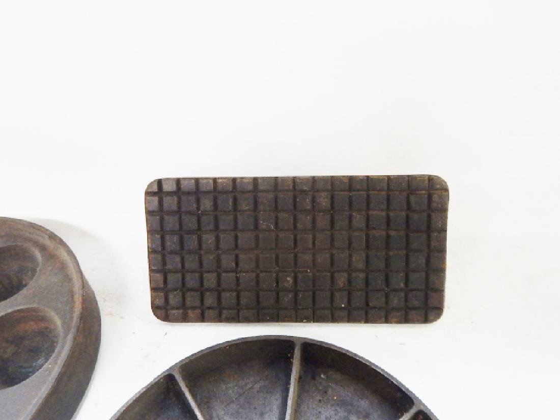 CAST IRON SKILLETS AND PRESS - 4