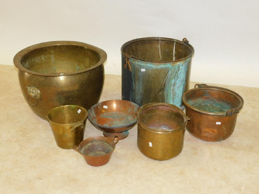 LOT OF BRASS AND COPPER