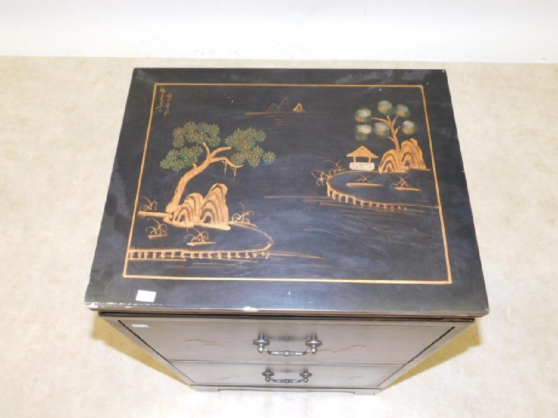 2 DRAWER ORIENTAL NIGHTSTAND - 2