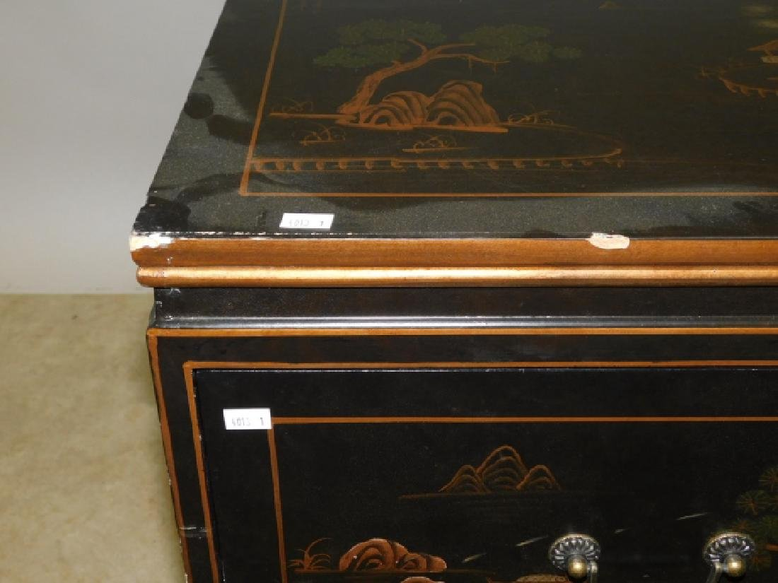 2 DRAWER ORIENTAL NIGHTSTAND - 3