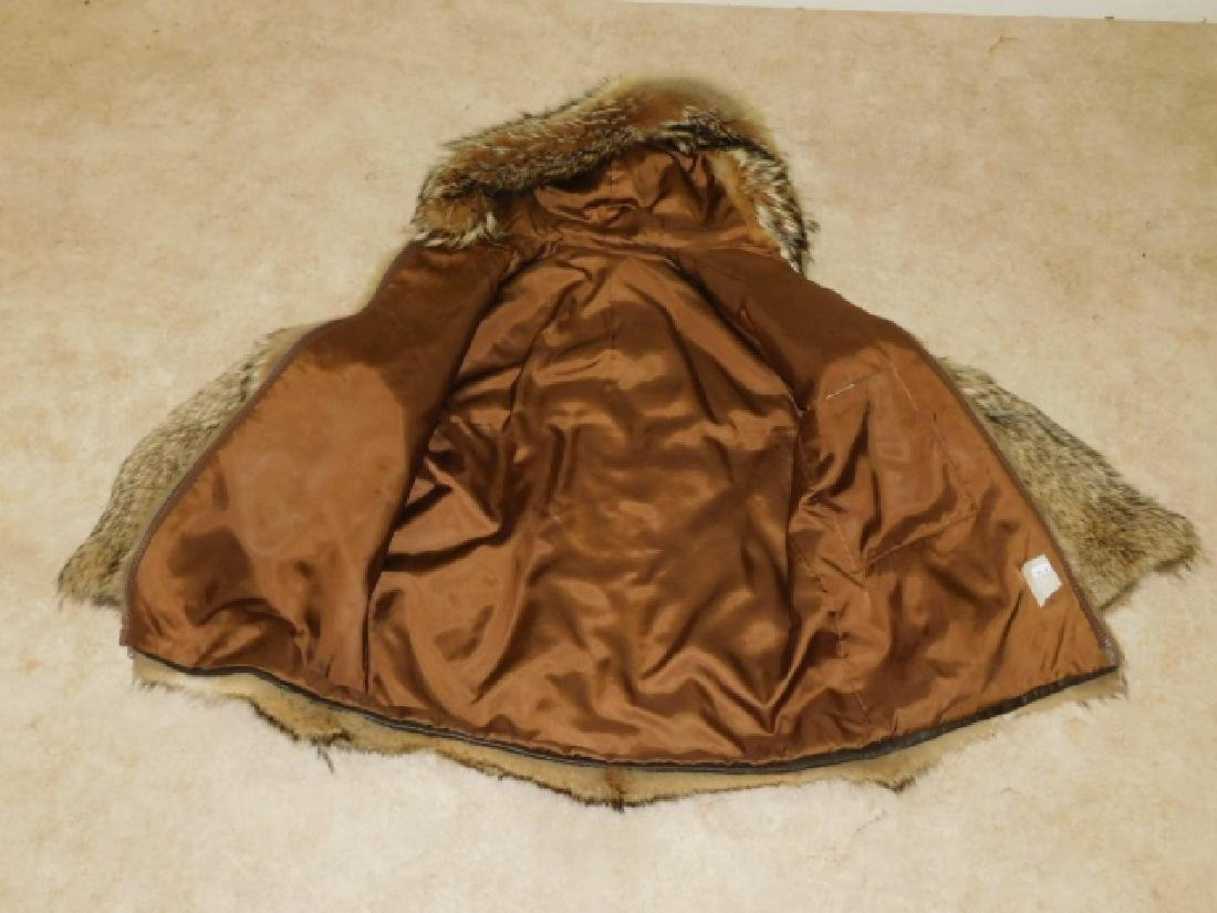 MENS FUR JACKET WITH HAT - 2