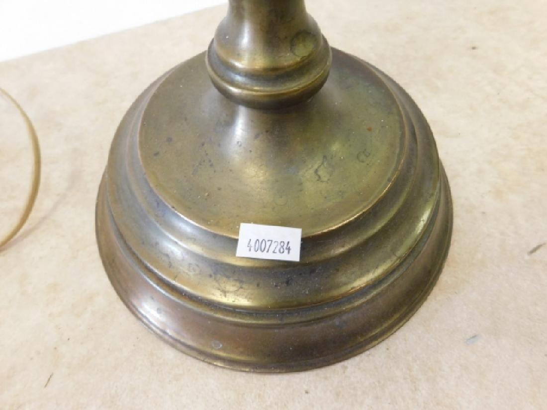 PAIR OF BRASS FLOOR LAMPS - 3