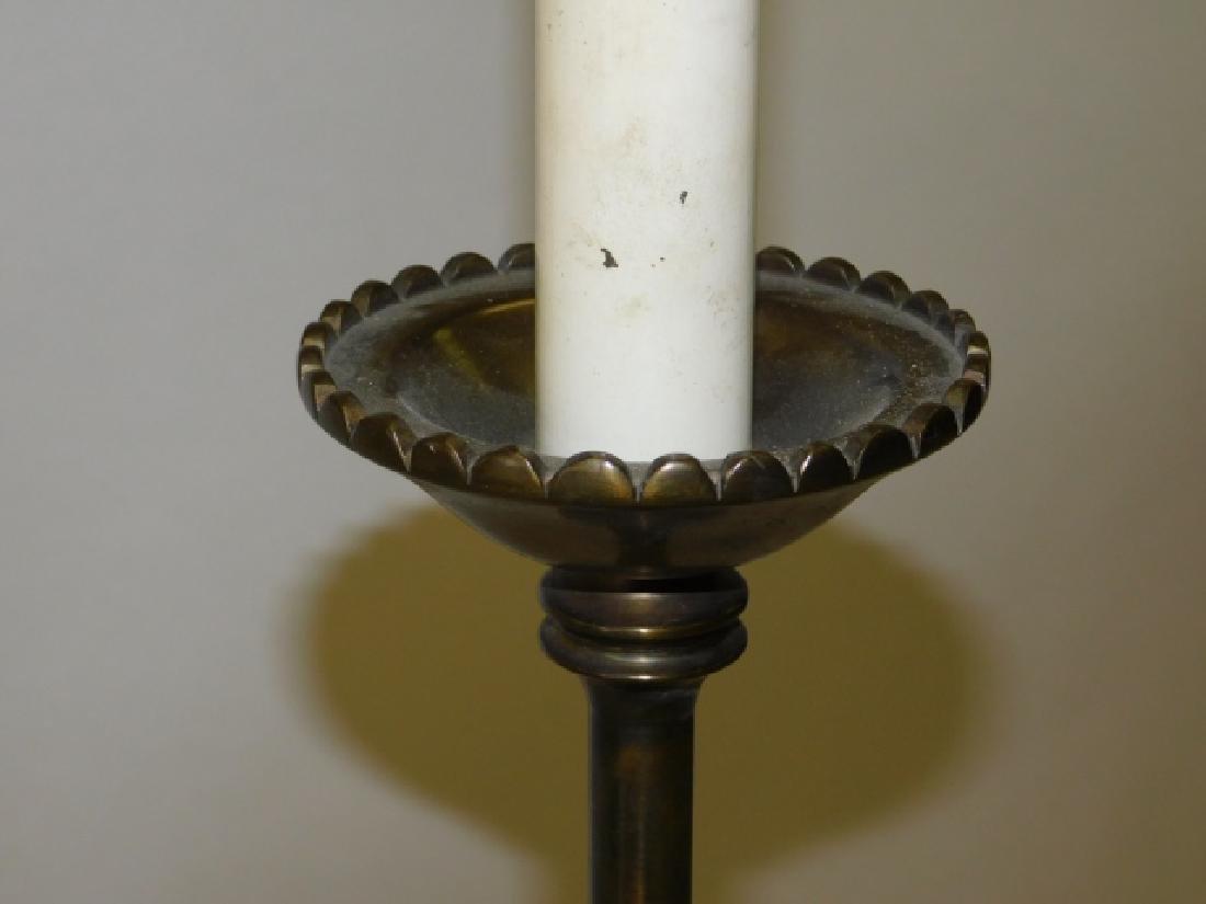 PAIR OF BRASS FLOOR LAMPS - 4