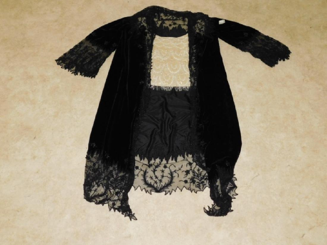 LADIES LACE JACKET WITH BEADED CAMISOLE
