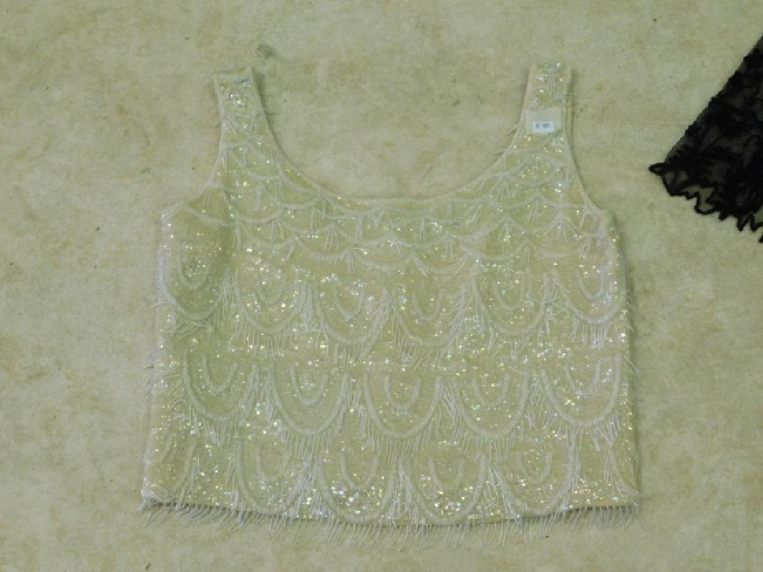 LADIES LACE JACKET WITH BEADED CAMISOLE - 3