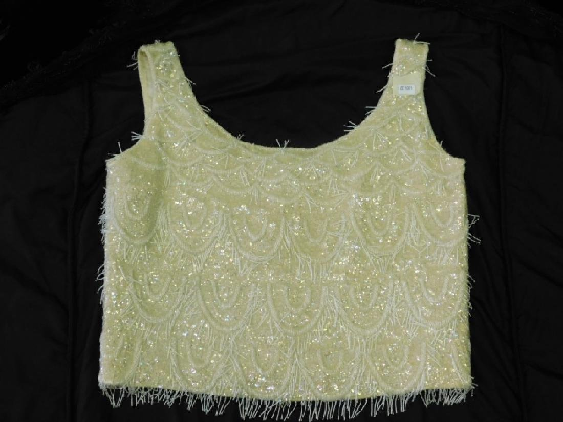 LADIES LACE JACKET WITH BEADED CAMISOLE - 4