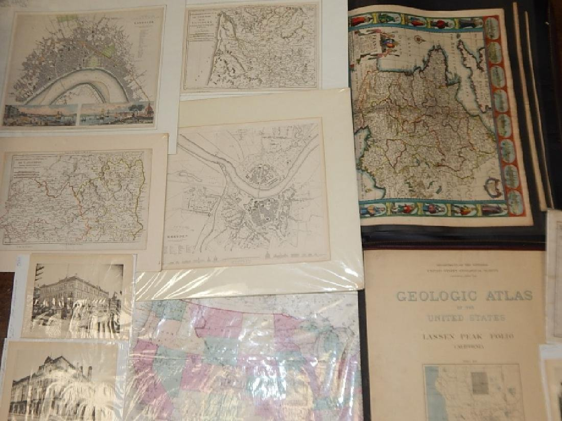 LARGE LOT OF OLD MAPS