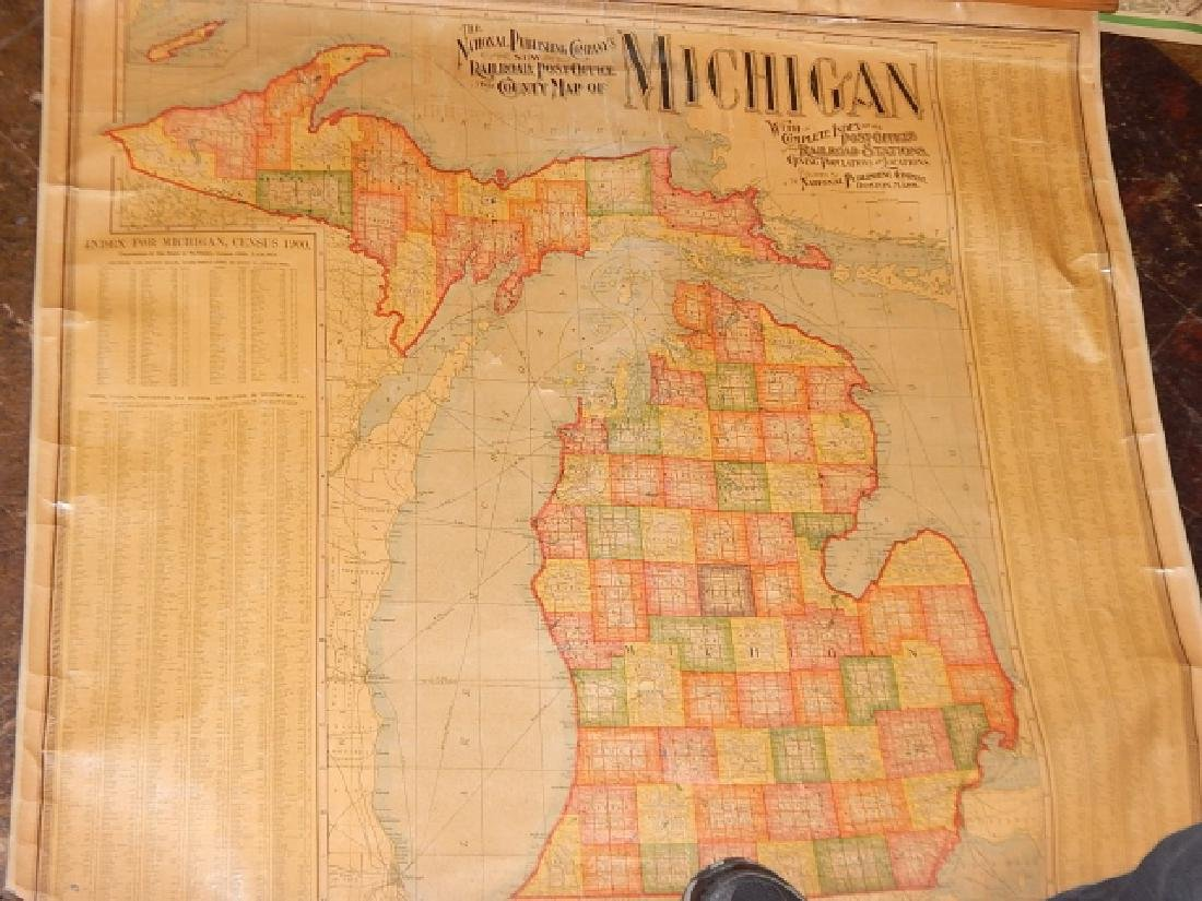 LARGE LOT OF OLD MAPS - 9