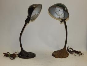 TWO DESK LAMPS