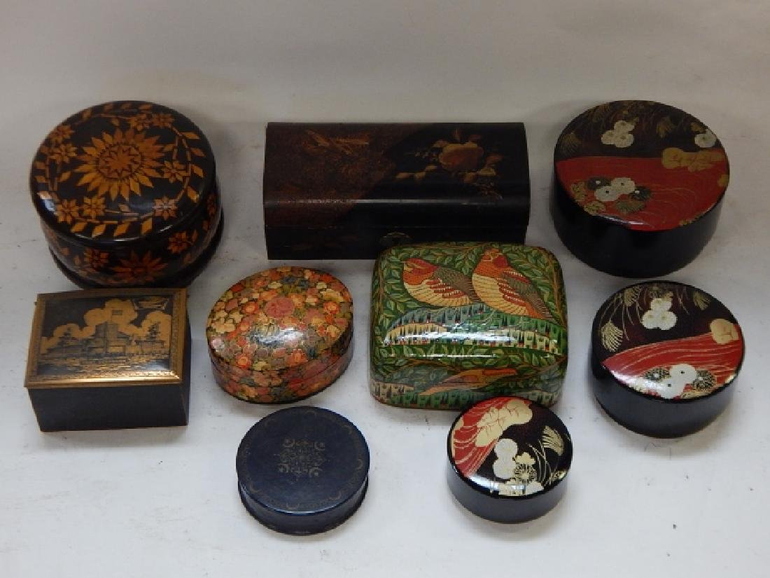 LOT OF HAND DECORATIVE BOXES