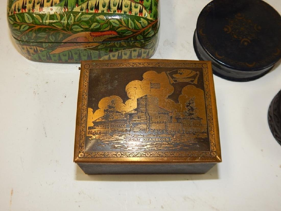 LOT OF HAND DECORATIVE BOXES - 3