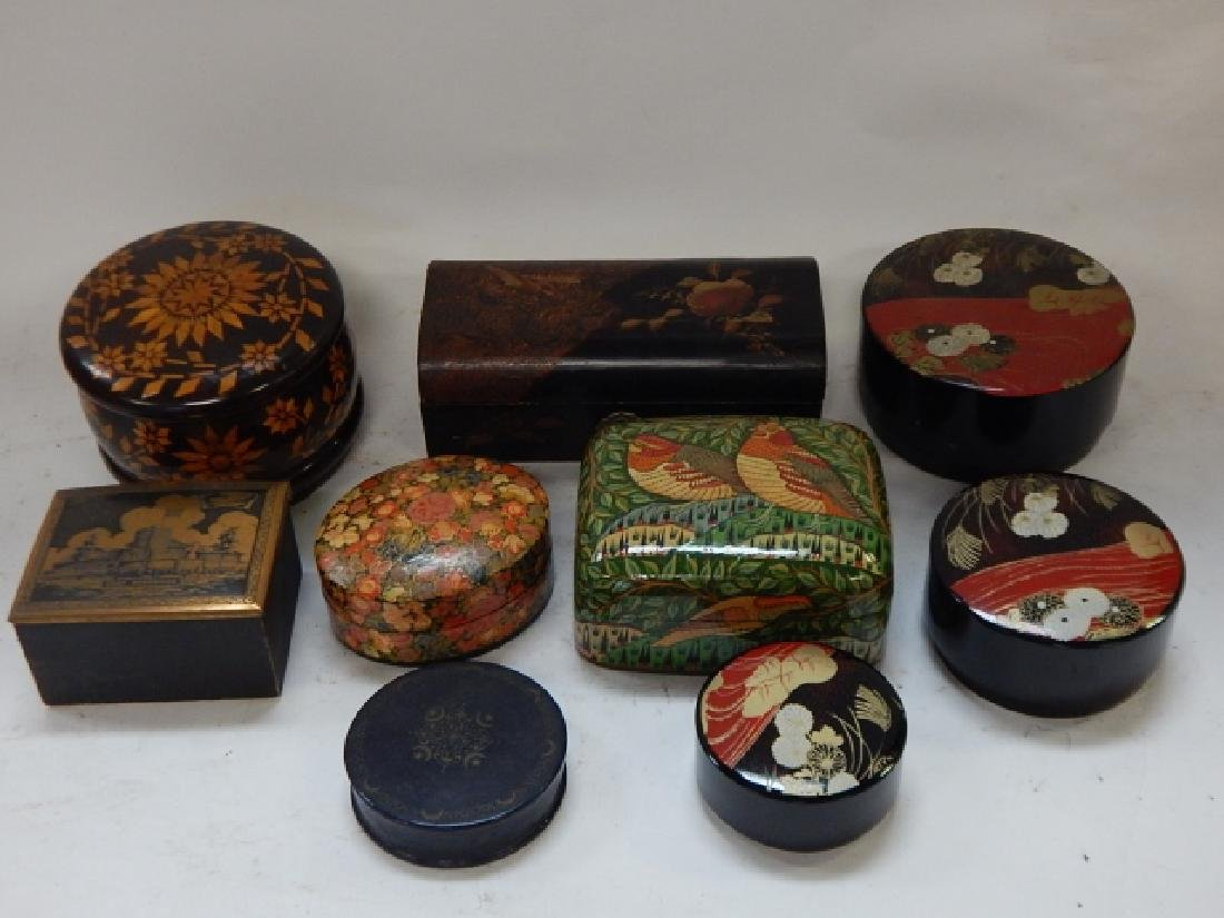 LOT OF HAND DECORATIVE BOXES - 6