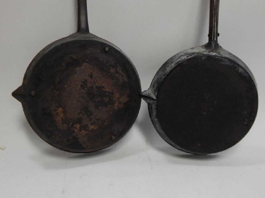 TWO CAST IRON FRYING PANS - 6