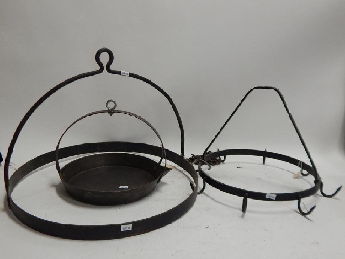 IRON FIRE PLACE HANGERS