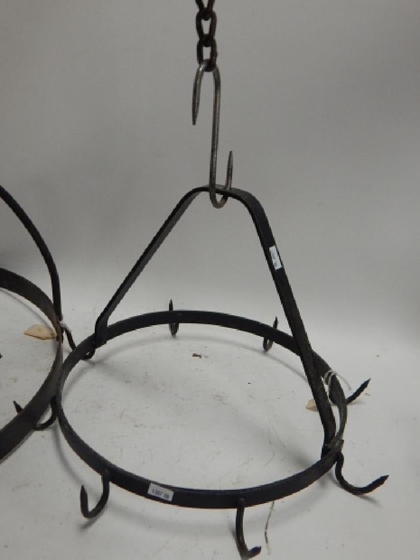IRON FIRE PLACE HANGERS - 2