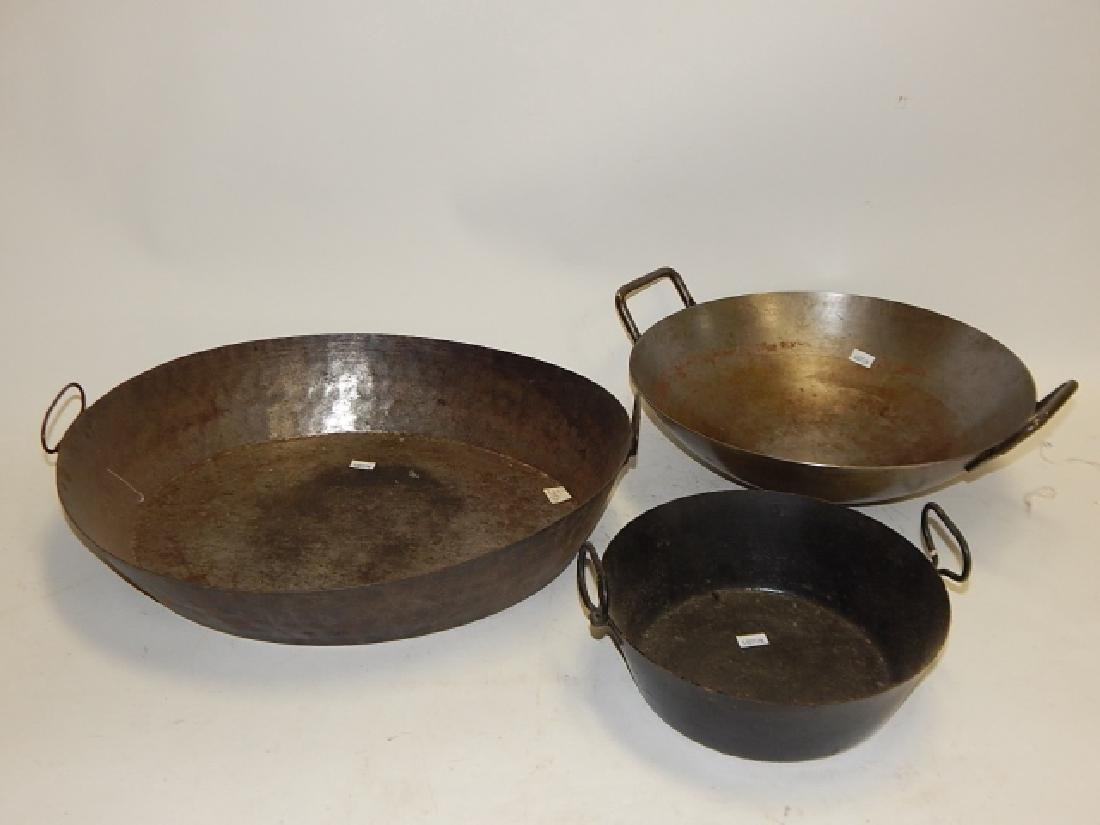 EARLY HAND MADE PANS AND WOK