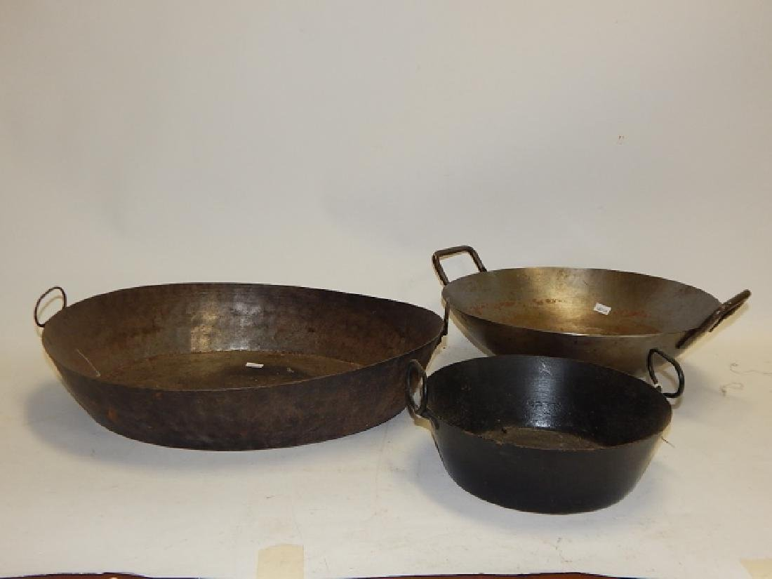 EARLY HAND MADE PANS AND WOK - 2