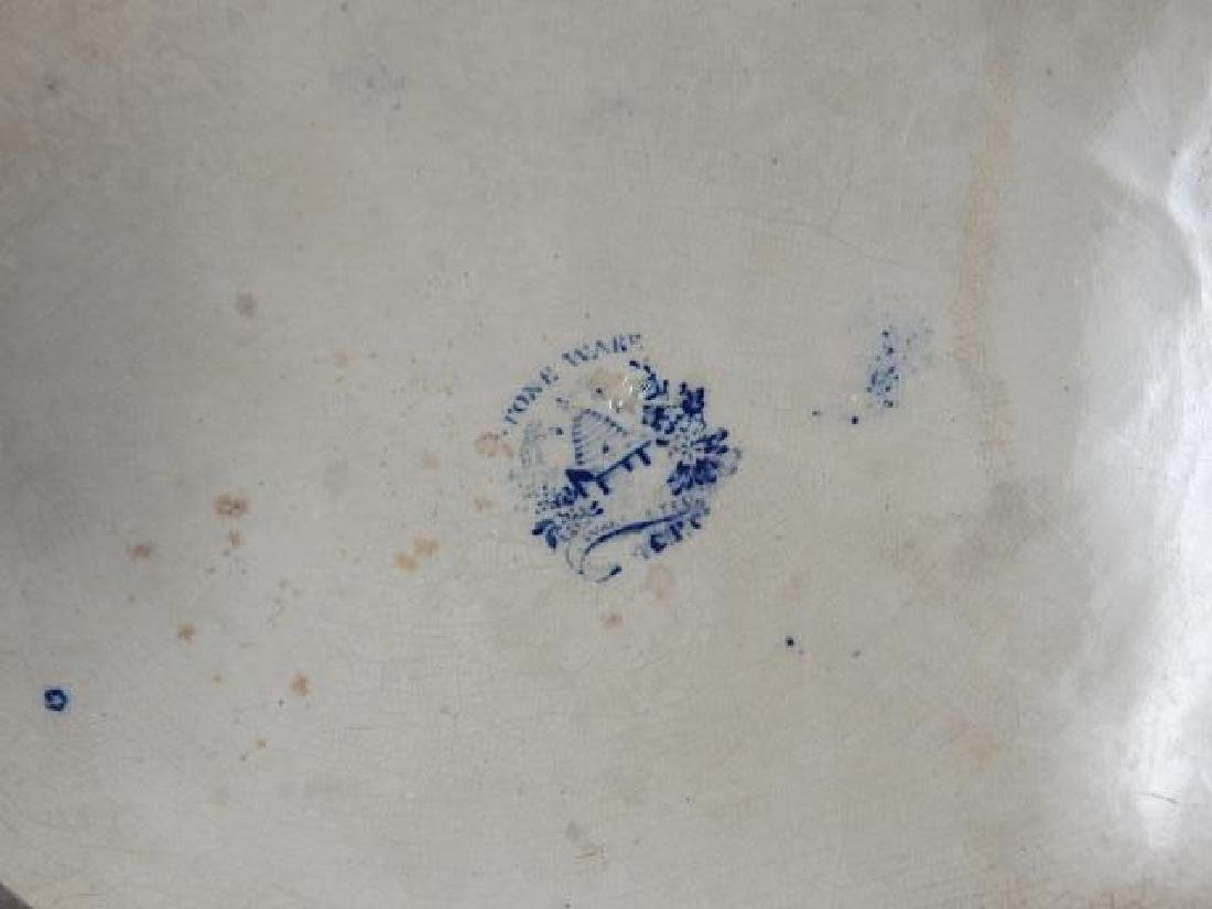 BUFFALO POTTERY BLUE WILLOW PLATTER - 6