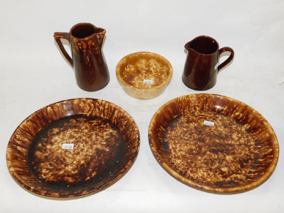 ROCKINGHAM PIE PLATES, PITCHER, AND MORE