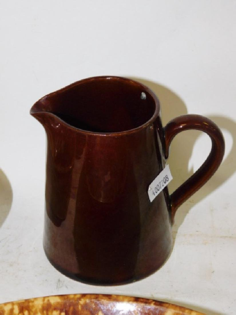 ROCKINGHAM PIE PLATES, PITCHER, AND MORE - 5