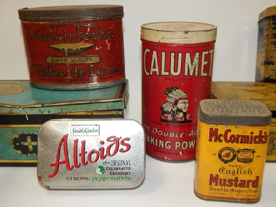 COLLECTION OF TINS - 3