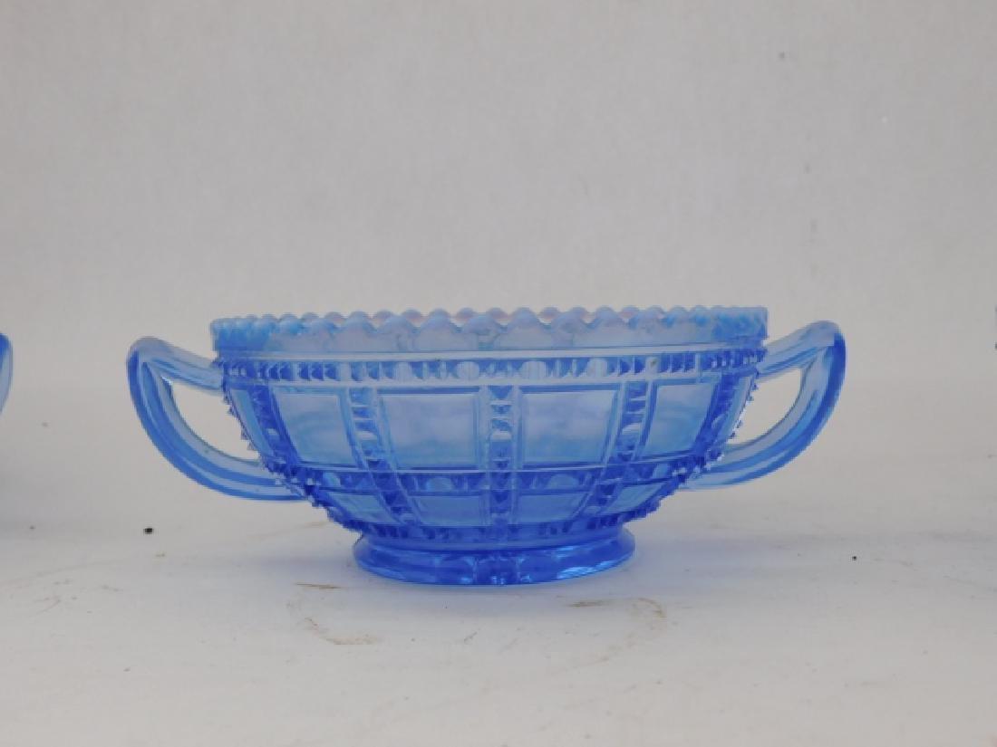 SET OF 8 BLUE GLASS BOWLS - 2