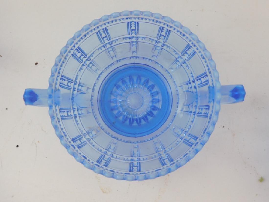 SET OF 8 BLUE GLASS BOWLS - 3
