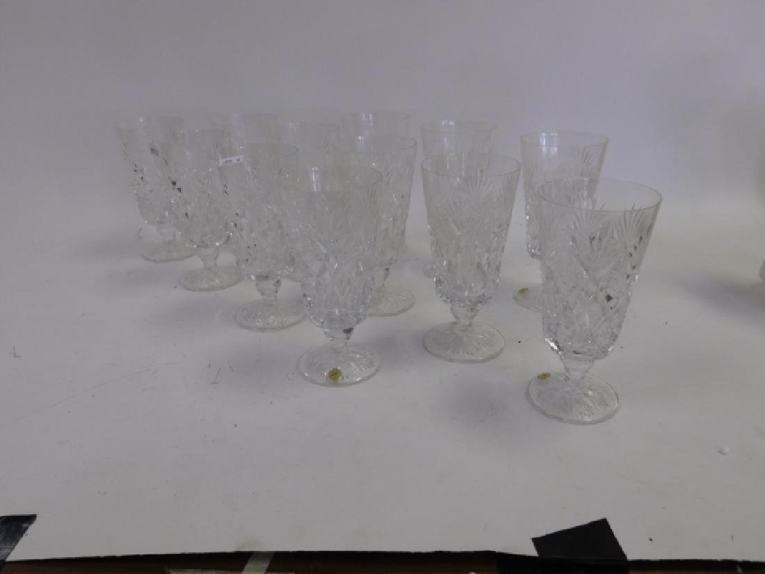 LOT OF CRYSTAL WATER GOBLETS