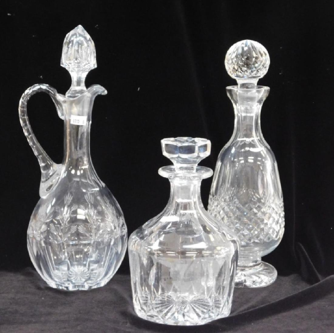WATERFORD DECANTER AND TWO MORE