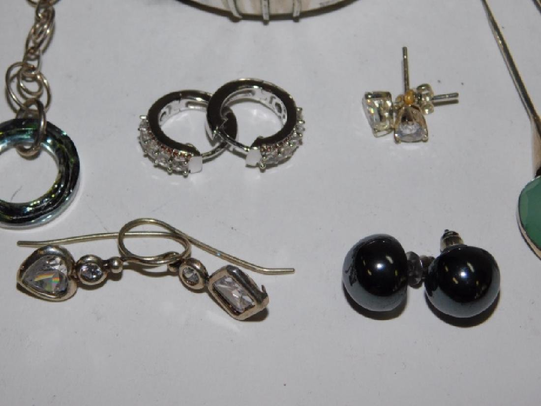 SEVEN PAIRS OF STERLING SILVER EARRINGS - 2