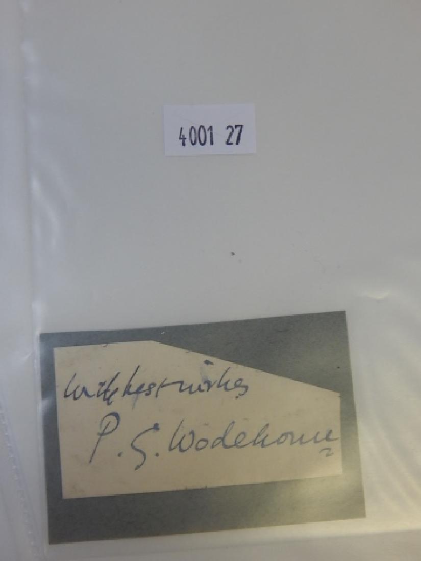 SIR P. G. WIDEHOUSE AUTOGRAPH