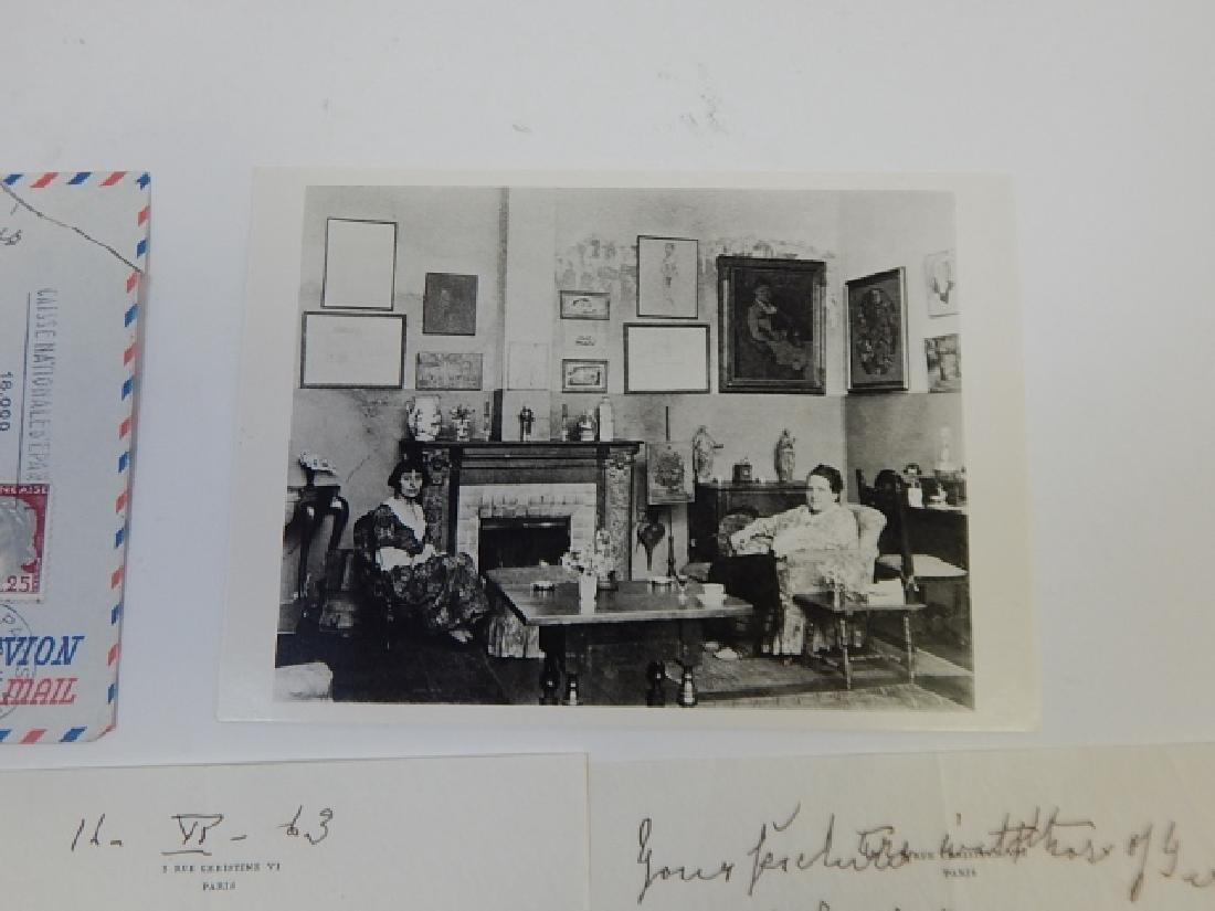 ALICE B. TOKLAS SIGNED LETTER - 2