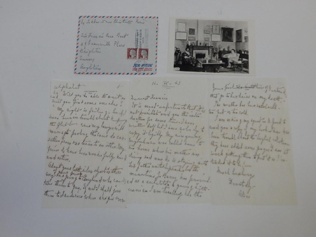 ALICE B. TOKLAS SIGNED LETTER - 3