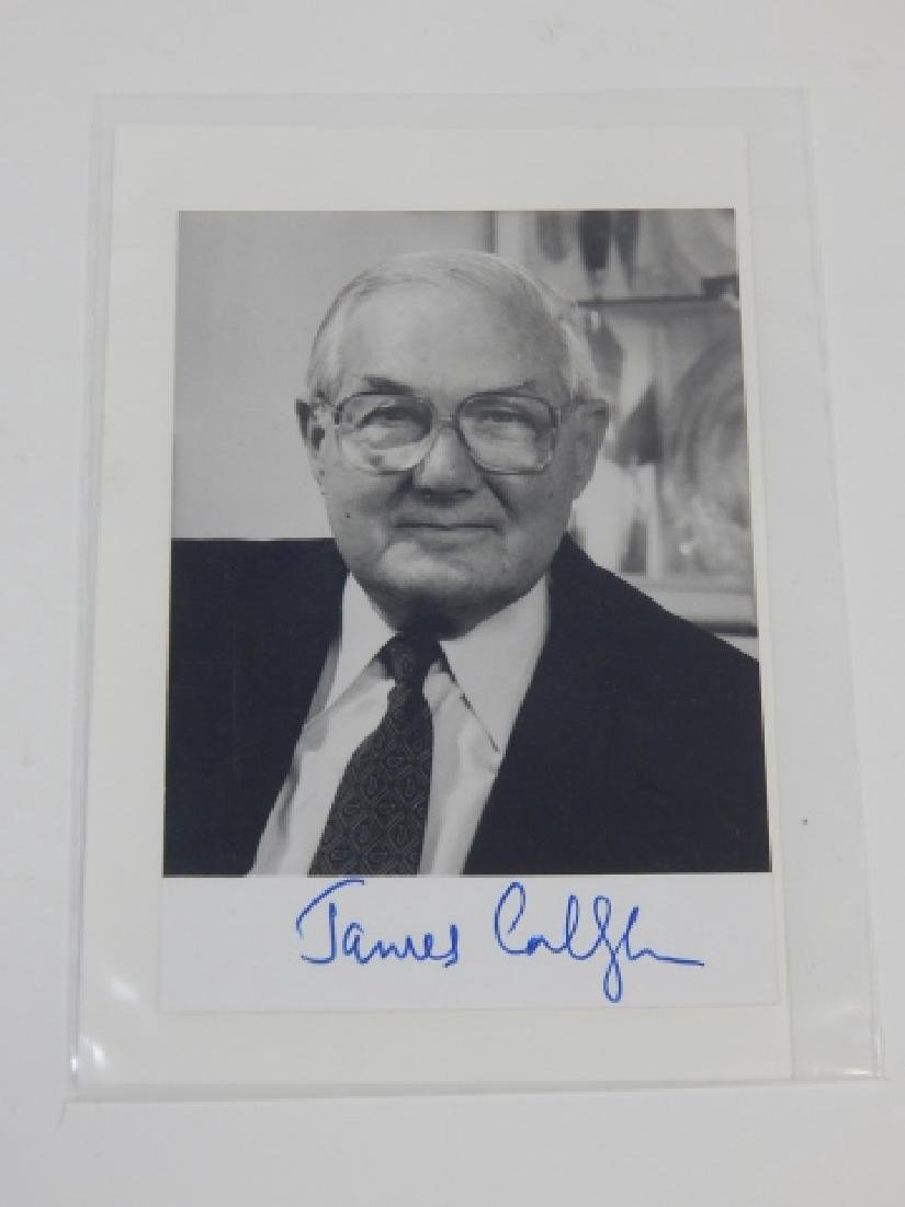 JAMES CALLAGHAN PHOTO AND AUTOGRAPH