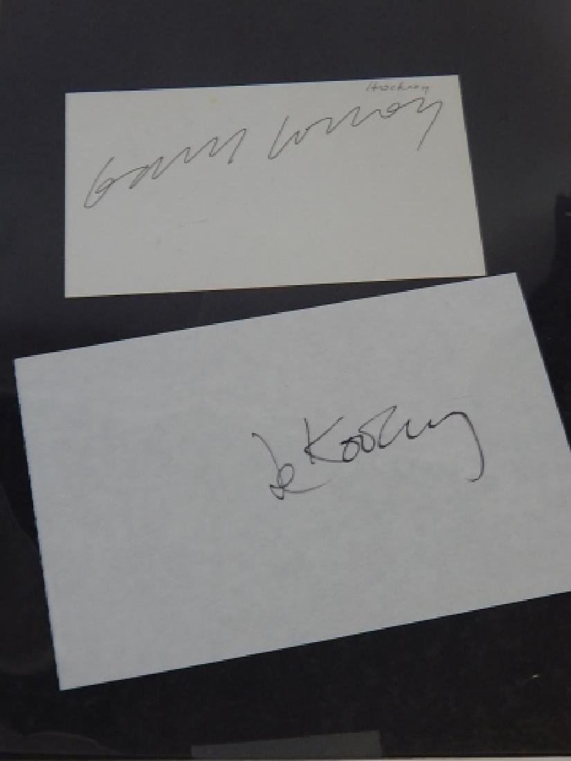 DAVID HOCKNEY & WILLIAM DE KOENIG AUTOGRAPH