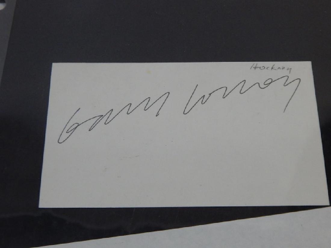 DAVID HOCKNEY & WILLIAM DE KOENIG AUTOGRAPH - 3