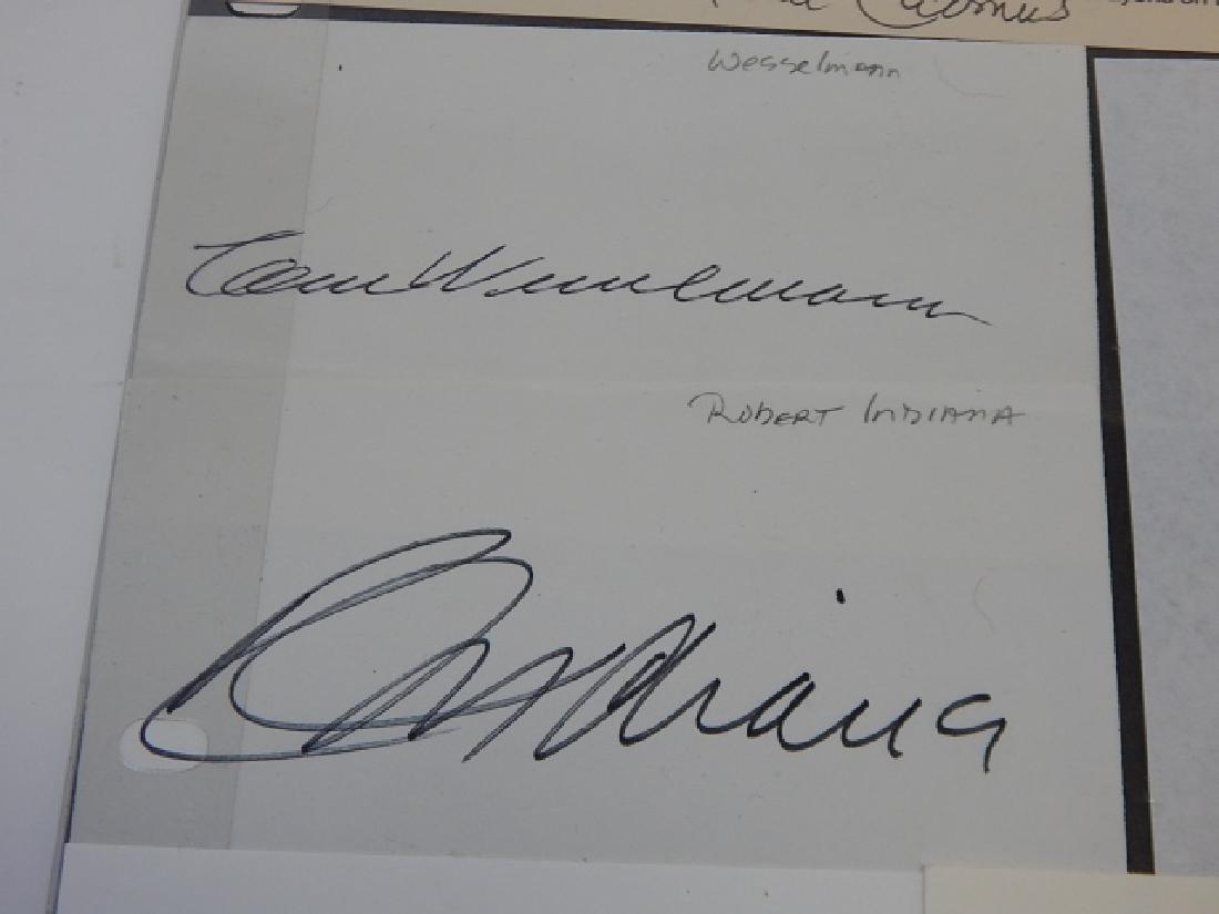 WESSELMANN, CADMUS, INDIANA, HIRSCHFELD, JOHNS - 2
