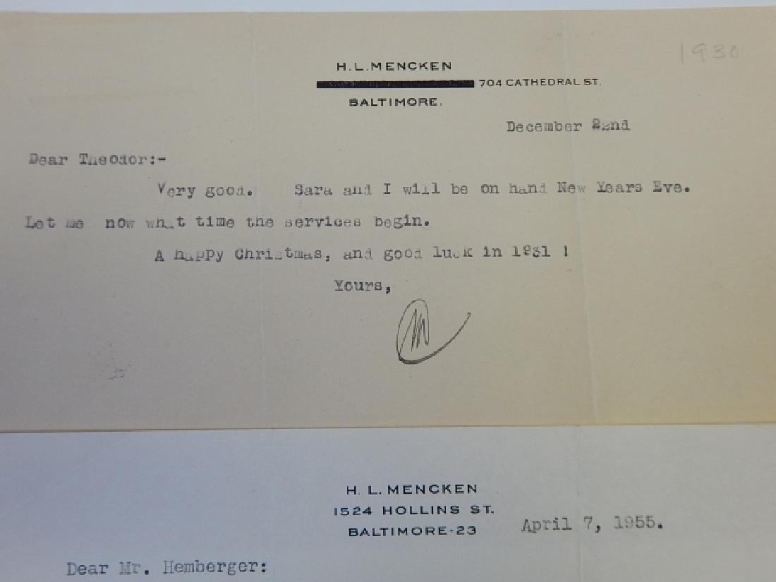 H.L. MENCKEN CORRESPONDANCE - 4