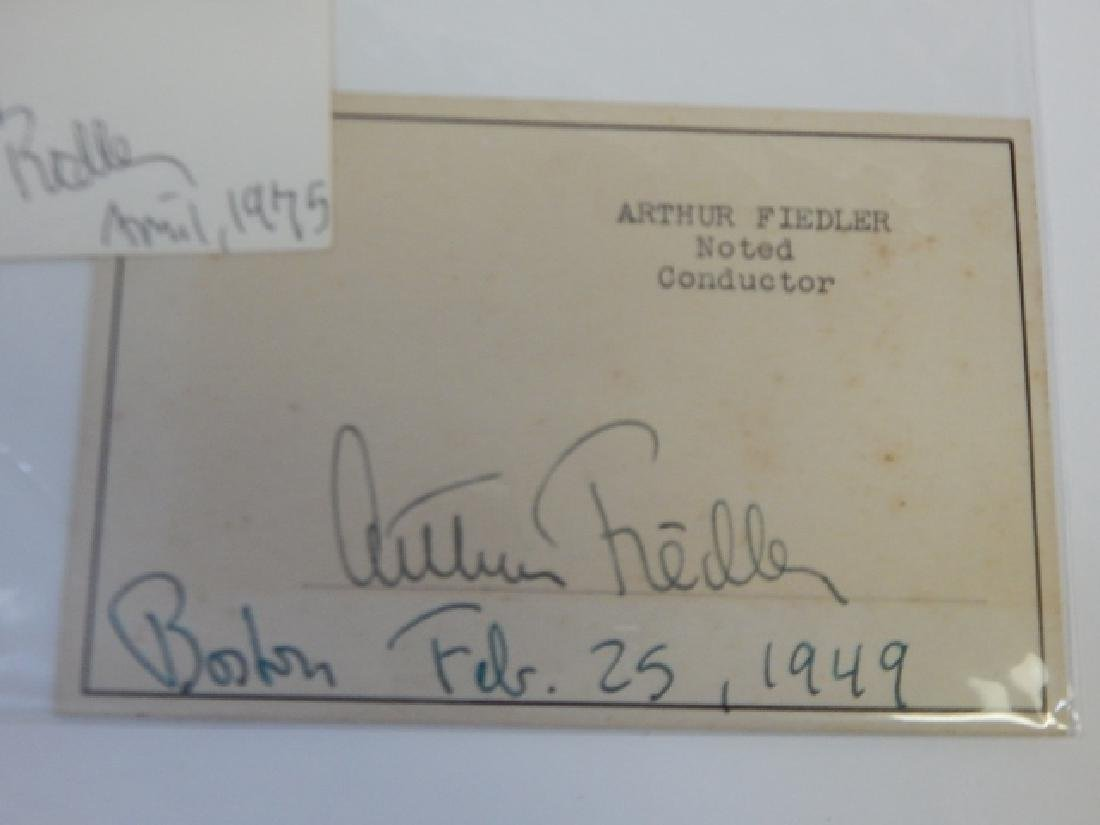 ARTHUR FIEDLER SIGNED POSTCARD AND NEWSPAPER PHOTO - 3