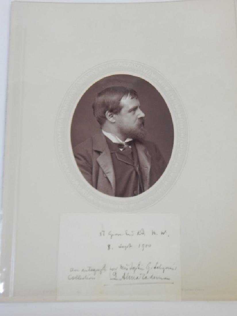 SIR LAWRENCE ALMA-TADEMA AUTOGRAPHED CARD & PHOTO