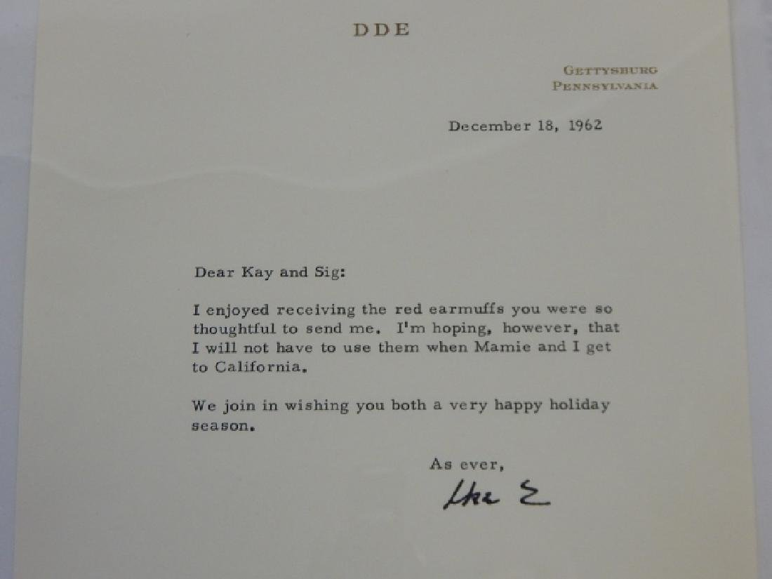 DWIGHT D EISENHOWER SIGNED LETTER