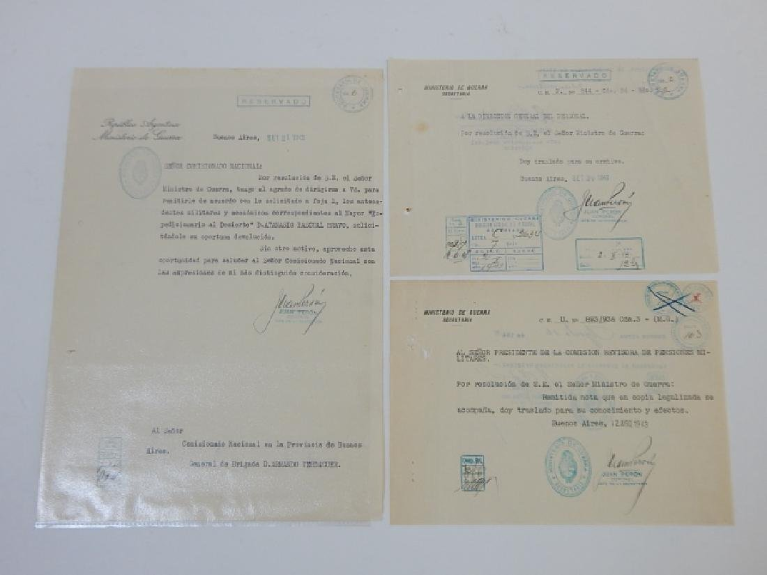 JUAN PERON SIGNED LETTERS